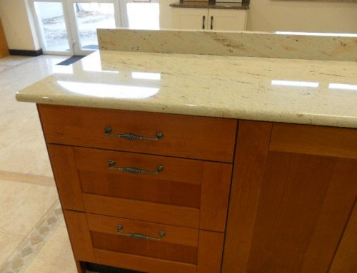 Atlantic Yellow Worktop with Full Bullnose Edge