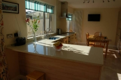 Crystal Reef Quartz Worktop, Upstands, Splashback & Window Board
