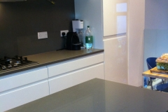 Twilight Grey Quartz Worktop & Full Height Upstands