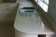 Crystal Reef Quartz Sink Section with Upstands & Window Board