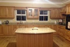 Venician Gold Granite Worktop, Upstands & Ogee Edge Profile Island Top