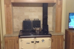Venician Gold Granite Worktop Either Side of Cooker