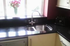 Indian Black Granite Worktop, Upstands & Window Board