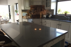 Sparkling Grey Quartz Worktop & Upstands