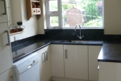 Black Pearl Granite Worktop with Upstands & Window Board