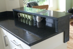 Black Pearl Raised Granite Breakfast Bar