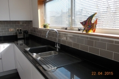 Crystal Black Quartz Worktop & Upstands