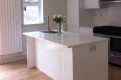 Artic Snow Quartz Worktop, Upstands & Splashback