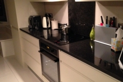 Indian Black Granite Island Worktop with Sink Cut Out & Draining Grooves