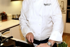 20mm Bianco Venato Quartz Worktop @ The Samsung Kitchen @ L'Ecrivain