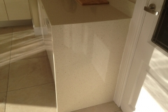 Crystal Reef Quartz Worktop with Mitred Gable