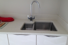 Crystal Reef Quartz Sink Section with Upstands