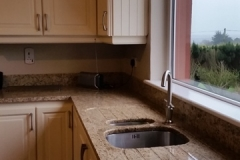 Venician Gold Granite Worktop, Upstands & Double Recessed Draining Board