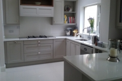 Crystal Ivory Quartz Worktop, Upstands, Splashback & Window Board
