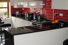 Indian Black Worktop with Upstands & End Gable