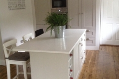Silver White Quartz Island Top