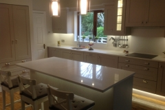 Silver White Quartz Worktop, Upstands, Splashback & Window Board