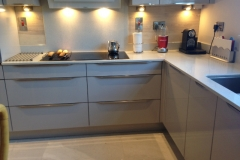Sparkling White Quartz Worktop, Upstands & Splashback