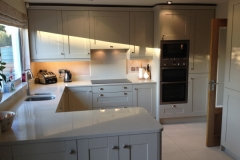 Crystal Reef Quartz Hob Section with Splashback