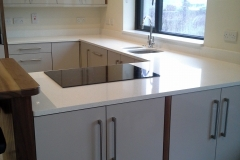 Crystal Ivory Quartz Worktop, Upstands & Window Board