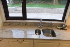 Astoria Ivory Granite Worktop, Upstands, Window Board & 1/2 Recessed Draining Board