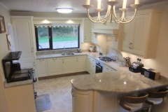 Astoria Ivory Granite Worktop, Upstands, Splashback, Window Board & 1/2 Recessed Draining Board