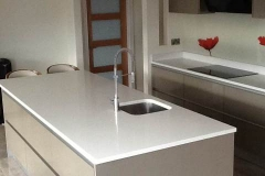 Crystal Ivory Quartz Worktop