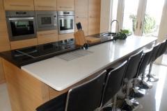 Supreme Black Granite & Mocha Crème Quartz Worktop