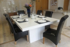 Silver White Quartz Table