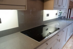 Sparkling Grey Quartz Splashback
