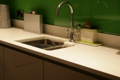 Crystal Ivory Quartz Worktop & Upstands