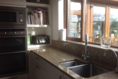 Venician Gold Granite Sink Section with Upstands & Window Board