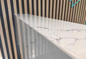 Venatino Vicostone Quartz Reception Desk