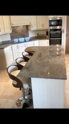 Astoria Ivory Granite Worktop, Upstands & Splashback