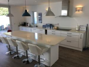 Sparkling White Quartz Worktop & Upstands