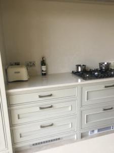 Botticino Classico Quartz Worktop & Wall Cladding