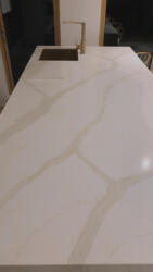 20mm Calacatta Quartz Island Top