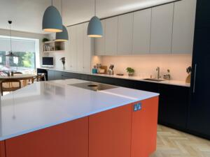20mm White Storm Silestone Quartz Worktop & Splashback