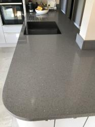 Sparkling Grey Quartz Worktop