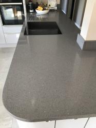Sparkling Grey Quartz Worktop