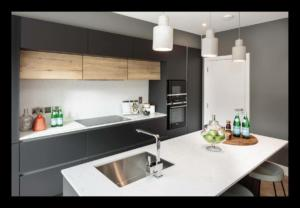 20mm Bianco Venato Quartz Worktop & Wall Cladding