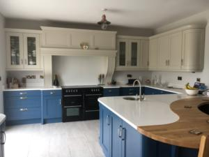 Crystal Ivory Quartz Worktop, Upstands & Splashback
