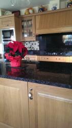 Tan Brown Granite Worktop, Upstands & Splashback