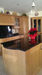 Tan Brown Granite Worktop, Upstands & Splashback