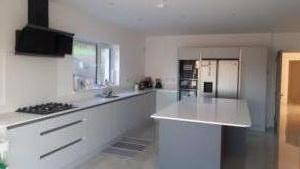 20mm Silver White Quartz Worktop, Upstands, Splashback & Window Board