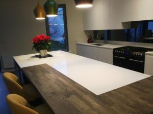 Crystal Ivory Quartz Worktop & Upstands