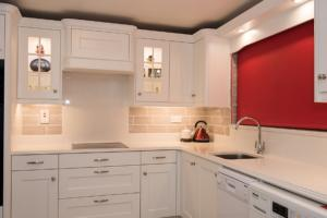 Crystal Ivory Quartz Worktop with Triple Pencil Edge Profile, Upstands, Splashback & Window Board