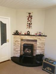 Indian Black Granite Hearth