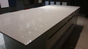 Valley White Quartz Island Top