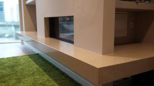 Jura Grey Quartz Fireplace